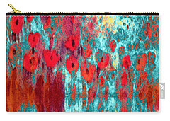 Carry-all Pouch featuring the painting Poppy Passion by Holly Martinson