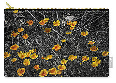 Carry-all Pouch featuring the photograph Poppyflies by Mark Myhaver