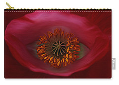 Carry-all Pouch featuring the photograph Poppy's Eye by Barbara St Jean