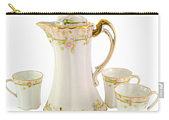 Porcelain Pitcher And Cups Carry-all Pouch