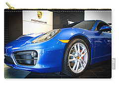 Porsche Cayman S In Sapphire Blue Carry-all Pouch