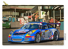 Porsche In The Pits Carry-all Pouch
