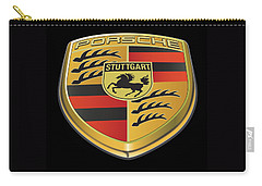 Porsche Logo On Black Carry-all Pouch