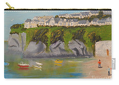 Carry-all Pouch featuring the painting Port Asaac Cornwell by Pamela  Meredith