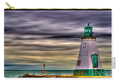 Port Dalhousie Lighthouse Carry-all Pouch by Jerry Fornarotto