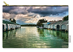 Storm Clouds Over  Port Royal Boathouses In Naples Carry-all Pouch