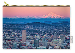 Portland And Mt Hood Carry-all Pouch by Patricia Davidson
