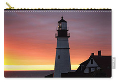 Portland Head Light At Dawn Carry-all Pouch