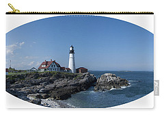 Carry-all Pouch featuring the photograph Portland Head Light House by Daniel Hebard