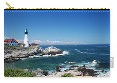 Portland Head Lighthouse Carry-all Pouch by Allen Beatty