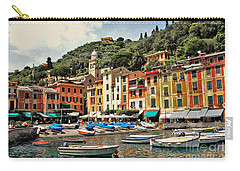 Carry-all Pouch featuring the photograph Portofino Harbor 2 by Allen Beatty
