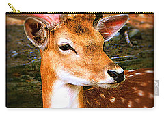Portrait Male Fallow Deer Carry-all Pouch