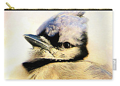 Portrait Of A Blue Jay Carry-all Pouch