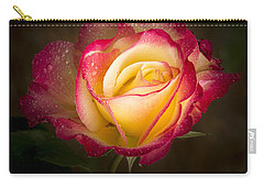 Portrait Of A Double Delight Rose Carry-all Pouch