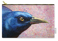 Portrait Of A Grackle Carry-all Pouch