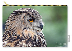 Carry-all Pouch featuring the photograph Portrait Of A Great Horned Owl by Jim Fitzpatrick