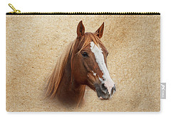 Portrait Of A Mare Print Carry-all Pouch