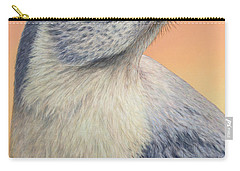 Portrait Of A Mockingbird Carry-all Pouch by James W Johnson