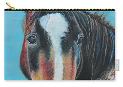 Portrait Of A Wild Horse Carry-all Pouch by Jeanne Fischer