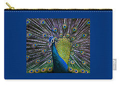 Portrait Of A Peacock Carry-all Pouch by Venetia Featherstone-Witty
