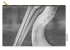 Portrait Of A Pelican Carry-all Pouch by Jon Woodhams