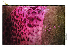 Portrait Of A Pink Leopard Carry-all Pouch