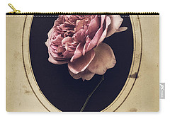 Carry-all Pouch featuring the photograph Portrait Of A Rose by Amy Weiss