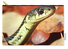 Carry-all Pouch featuring the photograph Portrait Of A Snake by Doris Potter