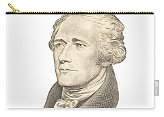 Portrait Of Alexander Hamilton On White Background Carry-all Pouch by Keith Webber Jr