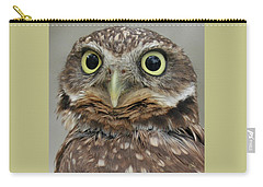 Portrait Of Burrowing Owl Carry-all Pouch by Ben and Raisa Gertsberg