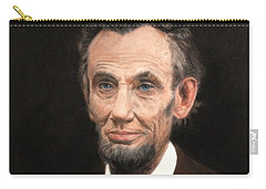 Portrait Of Lincoln Carry-all Pouch