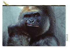Portrait Of Male Gorilla Gorilla Gorilla Carry-all Pouch
