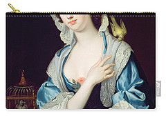 Portrait Of Peg Woffington Carry-all Pouch by Jean-Baptiste van Loo