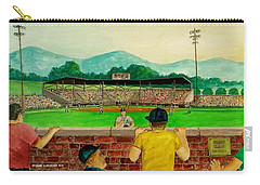 Portsmouth Athletics Vs Muncie Reds 1948 Carry-all Pouch by Frank Hunter