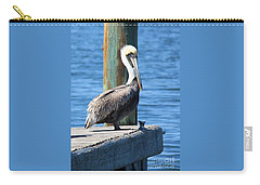 Posing Pelican Carry-all Pouch by Carol Groenen