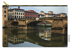 Postcard From Florence - Arno River And Ponte Santa Trinita  Carry-all Pouch