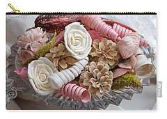 Potpourri In Pink And Cream Carry-all Pouch by Connie Fox