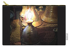 Pottery Oil Lamp  Carry-all Pouch