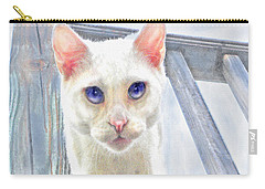 Carry-all Pouch featuring the digital art Pounce by Jane Schnetlage