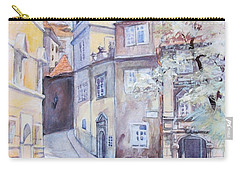 Carry-all Pouch featuring the painting Prague Golden Well Lane by Marina Gnetetsky