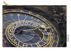Prague Orloj Carry-all Pouch by Adam Romanowicz