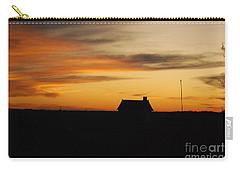 Carry-all Pouch featuring the photograph Prairie Sunset by Mary Carol Story