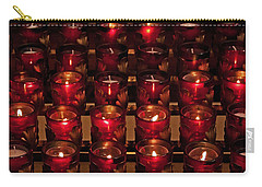 Prayer Candles Carry-all Pouch by Suzanne Stout
