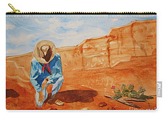 Carry-all Pouch featuring the painting Prayer For Earth Mother by Ellen Levinson