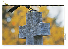 Praying Crow On Cross Carry-all Pouch by Luana K Perez