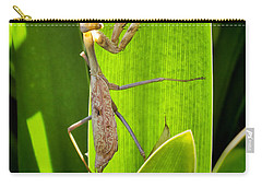 Carry-all Pouch featuring the photograph Praying Mantis by Kasia Bitner