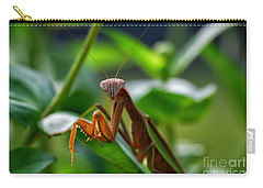 Carry-all Pouch featuring the photograph Praying Mantis by Thomas Woolworth