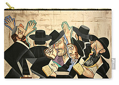 Carry-all Pouch featuring the painting Praying Rabbis by Anthony Falbo