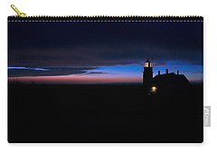 Pre Dawn Light Panorama At Quoddy Carry-all Pouch by Marty Saccone