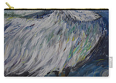 Carry-all Pouch featuring the painting Preening Crane by Avonelle Kelsey